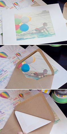 photo envelope liner - very cool and looks simple enough for even me to do.