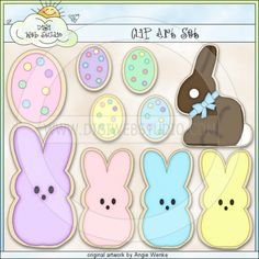 Easter Cookies 1 - Clip Art by Angie Wenke