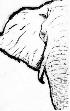 another elephant sketch by jmdragunas on DeviantArt Elephant Outline, Elephant Sketch, Elephant Drawings, Elephant Paintings, Simple Elephant Drawing, Elephant Canvas Painting, Elephant Doodle, Tattoo Elephant, Elephant Watercolor