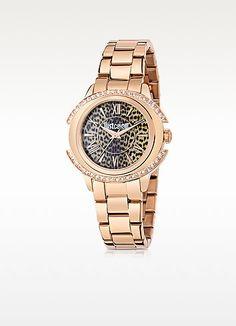 JUST CAVALLI Just Decor Rose Gold Tone Stainless Steel Women'S Watch. #justcavalli #just decor rose gold tone stainless steel women's