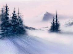 Snowy Winter Landscape  Quiet Mountain Morning  by Art2ArtColorado, $25.00
