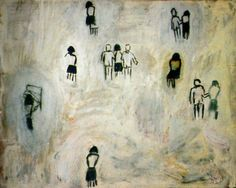 """Nadie olvida nada, (1982) by Guillermo Kuitca Acrylic on wood 471/2"""" x 60""""  This is one of four paintings by Kuitca titled """"nadie olvida nada"""". Josefina Ayerza speculates that the repeated names are the result of a ritual started by Guillermo on account that his father would tell him when was the work piece, finished.Click on the picture to read Planning stages: Josefina Ayerza on Guillermo Kuitca."""