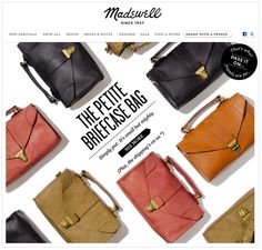 Love how they photographed these bags.
