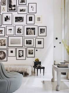 "Love this photo arraingement from Celerie Kemble's ""Black & White"" design book."