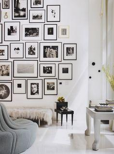 "Love this photo arraingement from Celerie Kemble's ""Black & White"" design book."