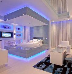 Luxury bedroom Um luxo e super moderno esse quarto. #quarto #cama #bedroom #Decoração #decoration #ornamentos #composição #detalhes #details #decor #adornment #ornament #Casa #lar #home #house # maison