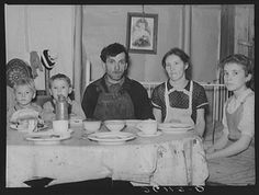 Part of the Valentine family at dinner. Bedford County, Pennsylvania