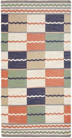 marta maas fjetterstrom vintage swedish rug on V