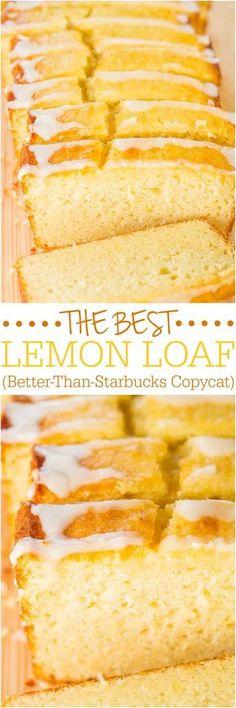 El Mejor Pan de limón (mejor que el de Starbucks Copycat) - Tomó años pero finalmente lo recreó! Fácil, sin mezclador, sin mezcla para pastel, peligrosamente bien !!