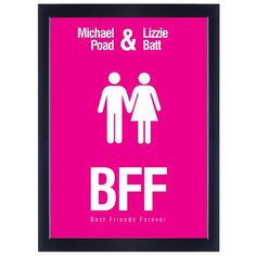 Personalised Poster - BFF  from www.personalisedweddinggifts.co.uk :: ONLY £19.99