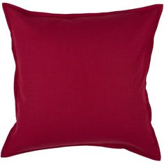 "Rizzy Home T-3713 20"" Decorative Pillow in Red - T-3713"