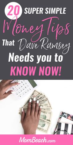 Do you want to save more money and pay off debt? Then, check out these 20 super simple money tips from Dave Ramsey that he wants you to know now! Pay off your family's debt quick and easy by following Dave Ramsey's money saving tips. You can get out of your debt faster by following this financial guru's advice. #payoffdebt #debtpayoff #daveramsey #debtsnowball #moneysavingtips #budgeting #savemoney #howtosavemoney #financialpeace #debt