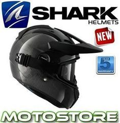 shark explore r motocicleta adventure touring casco pico gafas carbon skin - Categoria: Avisos Clasificados Gratis  Estado del Producto: Nuevo con etiquetasTHIS IS A LISTING FORSHARK EXPLORER MOTORCYCLE HELMETA FULLFACE HELMET ? AN OFFROAD HELMET ? IT OFFERS THE SAME PANORAMIC VISION FIELD AS THE VISIONR IN FULL FACE CONFIGURATION, A VERY LIGHT WEIGHT AND A WELLDESIGNED VENTILATION SYSTEM FOR EXTREME CONDITIONSaA HELMET WITH FULL SCREEN PANORAMIC VISION THAT CAN BECOME A TRAIL HELMET: VISOR