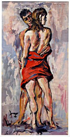 Gouache on Paper signed & dated 1952 Canadian Art, Figurative Art, Gouache, Paper, Artist, Artwork, Painting, Image