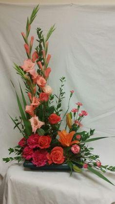 Unique floral arrangement