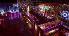 SciFi Bar Interior, Lachlan Page on ArtStation at https://www.artstation.com/artwork/B9qy8
