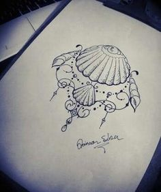 tattoos ideas are available on our internet site. Take a look and you will not … - hübsche Tätowierungen Dotwork Tattoo Mandala, Sternum Tattoo, Back Tattoo, Tattoo Thigh, Seashell Tattoos, Mermaid Tattoos, Mermaid Thigh Tattoo, Mermaid Tattoo Designs, Tattoo Conchas