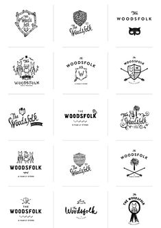 Woodsfolk Logo Process by Stitch Design Co.