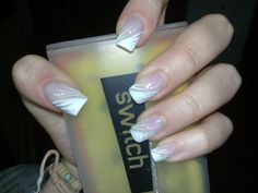 Cool Nail Art Designs for Fal 2015 White French Nails, French Nail Art, French Tip Nails, White Nail, Nail Art 2014, New Nail Art, Cool Nail Art, Funky Nails, Cute Nails