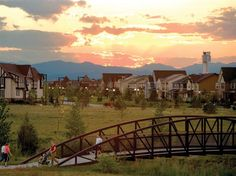 Stapleton Community in CO. Take a tour of Denver's premier sustainable community. Denver Neighborhoods, Colorado City, Denver Colorado, Moving To Another State, New Urbanism, The 'burbs, Eco Friendly House, Celebrity Houses, Home Ownership