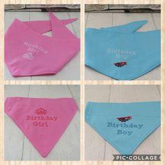Excited to share the latest addition to my #etsy shop: Birthday Dog Bandana Dog Bandana Pet Bandana Birthday Bandana #pets #pink #blue #birthdaybandana #dogbandana #petbandana #cottonfabric #cotton #embroiderythread https://etsy.me/2GMaeRX