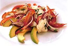 Ceviche of Monkfish with Avocado - (from Rick Stein; complete seafood cookbook)