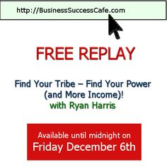 the #free #replay expires today! http://www.business-success-cafe.com/