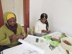 Stringing handmade beads into lanyards Lanyards, Handmade Beads, Wines, South Africa, Cape, Mantle, Cabo, Cloak