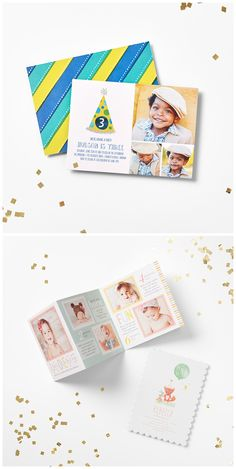 Shop kid's birthday invitations that are just too cute.
