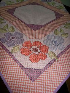 Items similar to Pink and Purple Flower doily on Etsy Girl Scout Swap, Girl Scout Leader, Girl Scouts, Chicken Scratch Embroidery, Pink And Purple Flowers, Mini Album Tutorial, Girl Scout Crafts, Pink Gingham, Labor