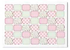 Shabby Chic stickers - MINI half boxes