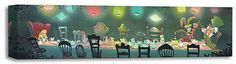 "A Mad Tea Party ""-Size: 7 x 28 