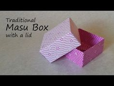Origami Masu Box with Lid: Tutorial - YouTube DIY: make your own little gift box out of origami paper. Just add ribbon around the box at the end for a finished look