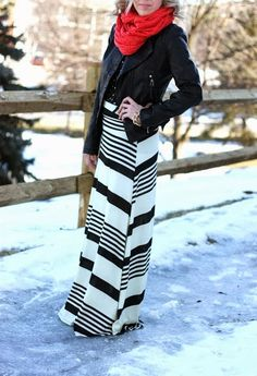 Black and White Winter Maxi Style Click for more
