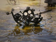 Tinguely Fountain in Switzerland.  Really meant to be seen in motion!