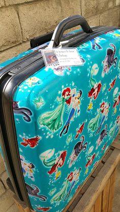 Vintage Samsonite Rolling Silhouette 5 Hard Shell- Little Mermaid by HarperMoonVintage on Etsy