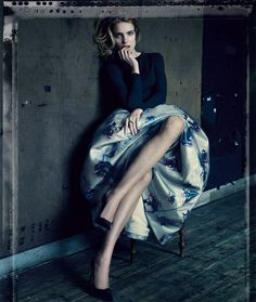 Natalia Vodianova in Christian Dior by Raf Simons photo by Paolo Roversi