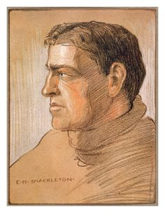Portrait of Ernest Shackleton a true hero, from 'The Heart of the Antarctic' by Sir Ernest Shackleton (1874-1922)