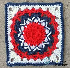 Bursting_with_pride...This is a fun granny square for your patriotic crafts!! Free pattern!