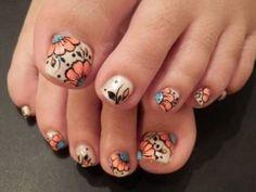 Image viaToenail DesignsImage viaCool & Pretty Toe Nail Art Designs & Ideas For Beginners .Image via Pretty Toe Nail Art D Fancy Nails, Love Nails, Pretty Nails, Pretty Toes, Beautiful Toes, Nagel Hacks, Nails Polish, Feet Nails, Manicure E Pedicure