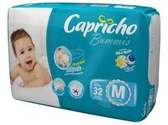 Fralda Capricho Bummis M 32 Unidades - Tecnologia Respirável Baby Air