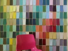 Paint chip wall by Robin De Groot (Canada).