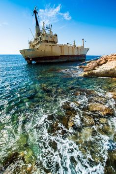 Our Condo was just up the hill from this ship wrecked boat...Paphos Cyprus