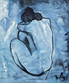 Picasso Blue. My husband had this hanging in his room when we first met.