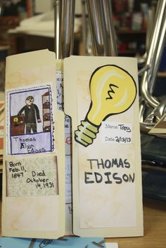 Great post about an inventor's lapbook...lots of page examples!