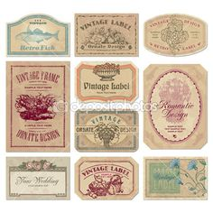 vintage engraving label - Google Search
