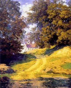 """Maxfield Parrish, """"Village Schoolhouse"""""""