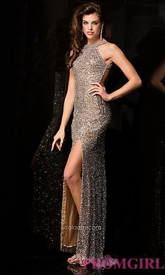 Long Sequin Prom Dress by Scala at PromGirl.com