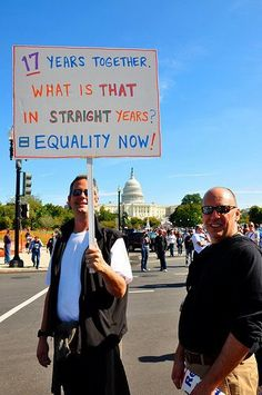 17 years together...what is that in straight years? support gay rights.