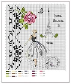 grille Paris just for the edging on the left side Plus Cross Stitch Love, Cross Stitch Charts, Cross Stitch Designs, Cross Stitch Patterns, Ribbon Embroidery, Cross Stitch Embroidery, Embroidery Patterns, Cross Stitching, Needlepoint